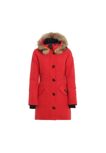 Canada Goose red Canada Goose Rossclair Down Jacket in Rosso 3FF80AA96DEAC9GS_1