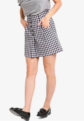 Something Borrowed black and white Paperbag Mini Skirt 41E00AA13731BFGS_1