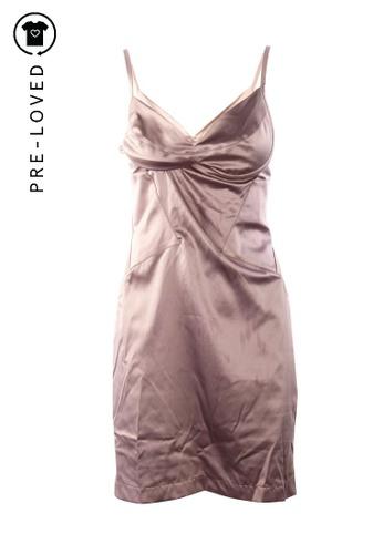 Just Cavalli pink Pre-Loved just cavalli Pastel Pink Satin Dress 50179AAEA3F465GS_1