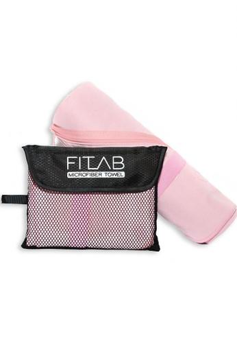 Fitlab pink Microfiber Sports Towel 33F65HL283AB36GS_1