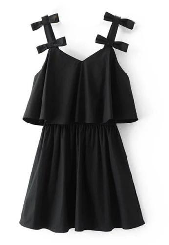 Sunnydaysweety black Summer Style Black Cotton Blend One-piece Dress C041207 SU219AA0GQTVSG_1
