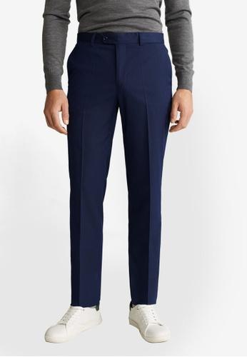 Mango Man blue Super Slim Fit Tailored Trousers 55BA3AADA15FA5GS_1