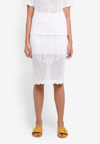 TOPSHOP white Pencil Midi Skirt 61E2BAAE3D7C2DGS_1