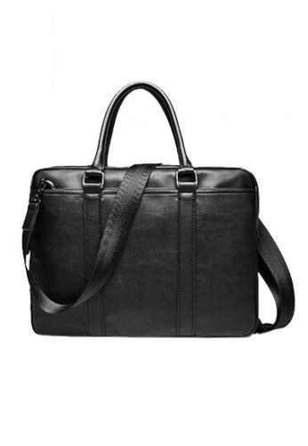 Lara black Solid Briefcase for Men FDCC0AC353FA50GS_1