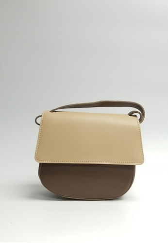 Lara brown Women's Small Top Flap Sling Bag 54D64AC4AAFB21GS_1