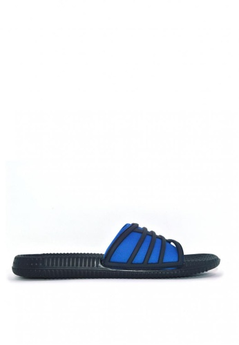 ACCEL black and blue Sdl Mati Sports Sandals 3736BSH76EFEB5GS_1
