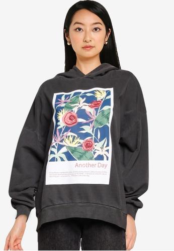 JACQUELINE DE YONG black Napoleon Long Sleeves Print Sweatshirt 9F5F9AA21974D8GS_1