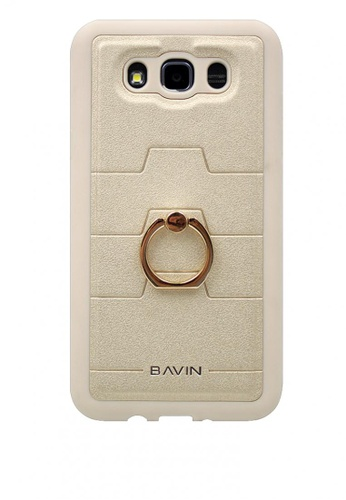 BAVIN gold Mobile Leather Cover with Ring Holder Stand for Samsung J710 7F86EACDC43751GS_1