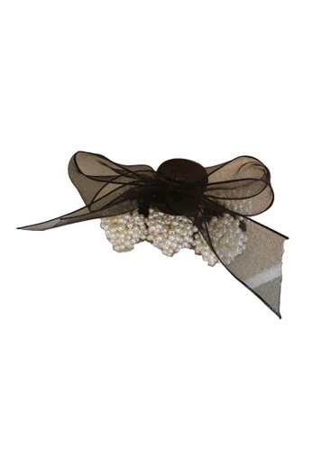 Kings Collection black Faux Pearl Bow Hair Clip (HA20064) 7E563ACEF1E08BGS_1