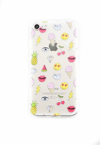 Fancy Cellphone Cases multi Emojis Soft Transparent Case for iPhone 7 FA644AC0ITFIPH_1