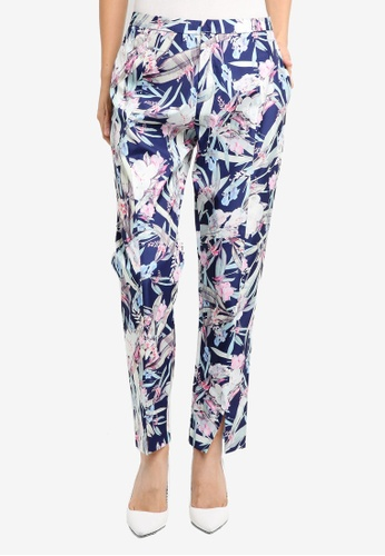 ZALORA blue and navy Studio Cigarette Pants 39EE7AAE7845F3GS_1