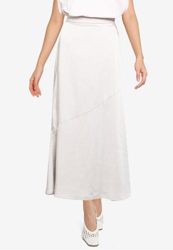 JEANASIS white Sateen Skirt 20674AA71A027DGS_1