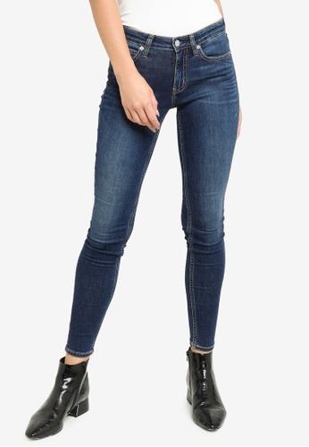 CALVIN KLEIN blue Mid Rise Skinny Jeans C9EFBAA6E09ADDGS_1
