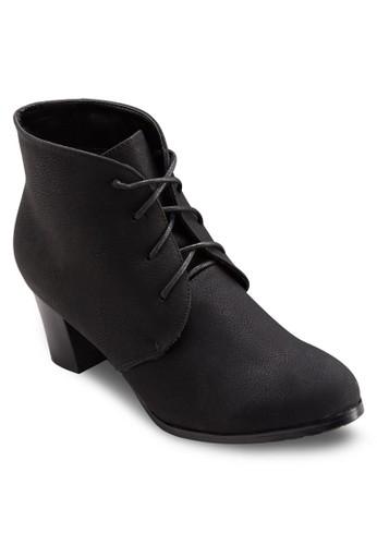 四眼esprit門市地址繫帶高跟短靴, 女鞋, 靴子