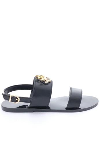 MINKA black SENA Jewelled Black Sandal MI006SH94ZZDID_1