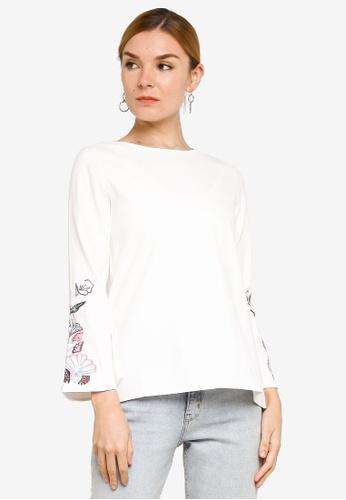BYN white Velvet Long Sleeve Top 8C07AAA1FD9AAEGS_1