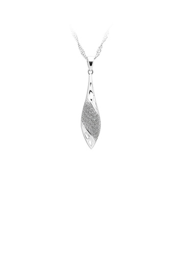 Glamorousky silver 925 Sterling Silver Pendant with White Cubic Zircon and Necklace 97324ACF1F3B6AGS_1