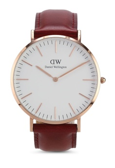 87d69ab716e8 Daniel Wellington red and multi Classic 40 Suffolk RG White Watch Rose Gold  40mm AC51AAC4898D76GS 1
