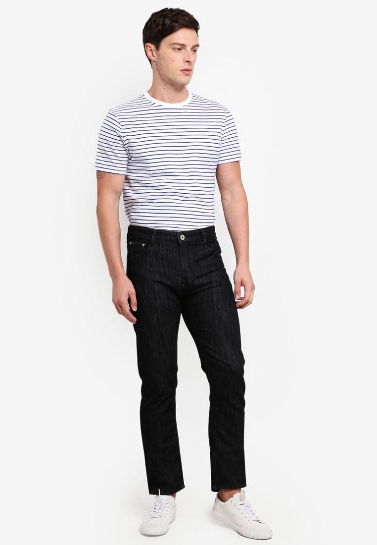 Straight Jeans Slim Black Fidelio Casual Denim Ad1U1q