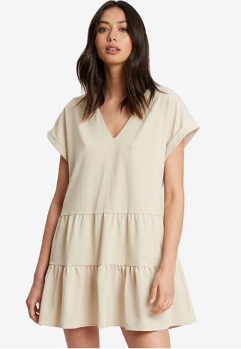Calli beige Narla Mini Dress 8AE4DAA29CBEDFGS_1
