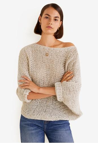 Mango grey Open-Knit Sweater 47CA3AA03234A0GS_1