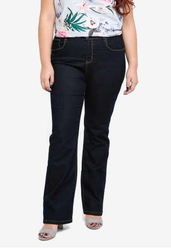 Dorothy Perkins blue DP Curve Ashley Bootcut Jeans 71627AA1256604GS_1