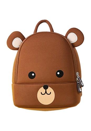 Nohoo brown Nohoo Kids Backpack Coffee Bear (Brown) 949C9KCE20911EGS_1