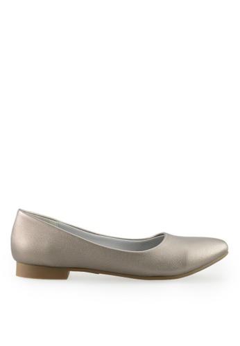 Footspot silver FOOTSPOT - Pointed Toe Flats 11697SHD39F4D0GS_1