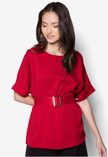 Lauren 腰zalora 包包 ptt帶寬袖上衣, 服飾, 服飾