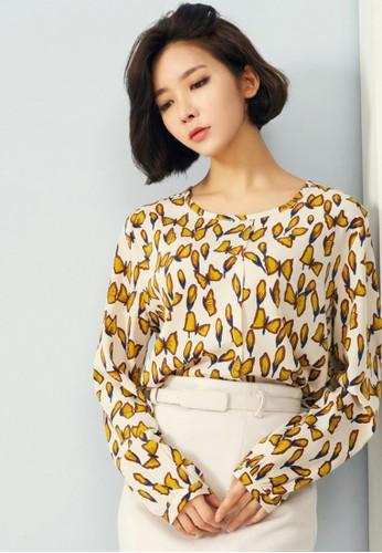 蝴蝶圖案襯衣, 服zalora 順豐飾, 上衣
