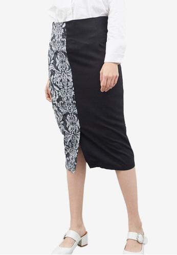Berrybenka black Gian Highwaist Skirt 45BB0AA2E572E3GS_1