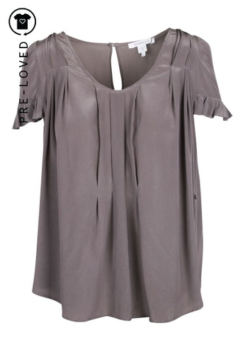 Marella grey Pre-Loved marella Pleated Grey Blouse 5946BAA3B2CAB0GS_1