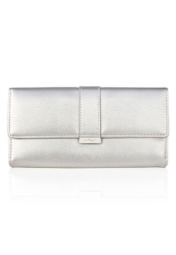 VERNYX - Woman's Pretty Zyx Centro Wallet DO451 Silver - Dompet Wanita