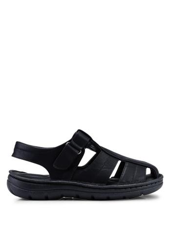 Bata black Smart Casual Sandals 6DFAFSH6D8C3FBGS_1