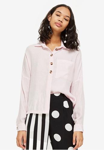 TOPSHOP pink Lightweight Casual Shirt 4D7BCAA9AA260FGS_1