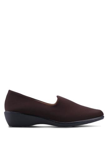 Noveni 褐色 舒適懶人楔型鞋 5283CSHB78EA78GS_1