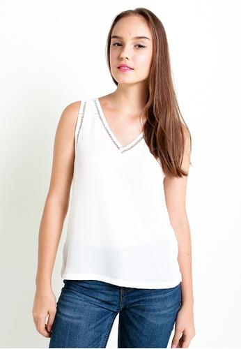Leline Style white Becka Blouse LE802AA31VSASG_1