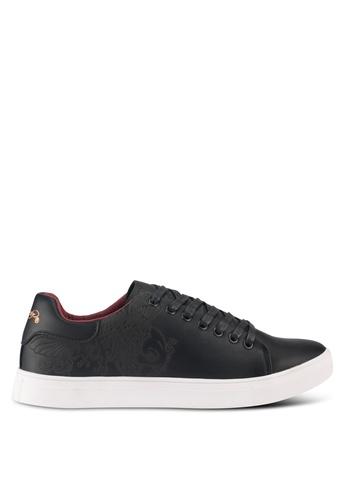 Ed Hardy black Low Cut Laser Upper Sneakers 5F900SHC9D0AE4GS_1