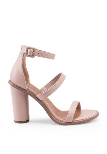 Rubi 褐色 繞帶高跟鞋 C3E0ESH5E75F89GS_1