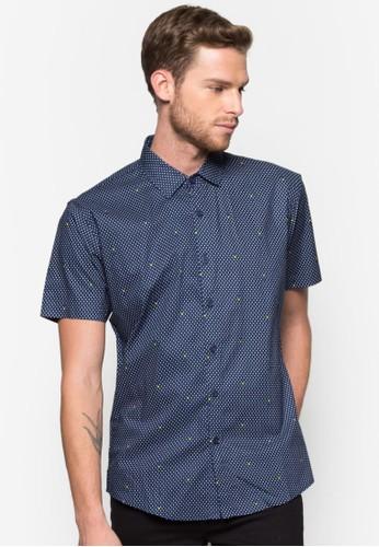 點點短袖襯衫, 服飾zalora 心得, 印花襯衫