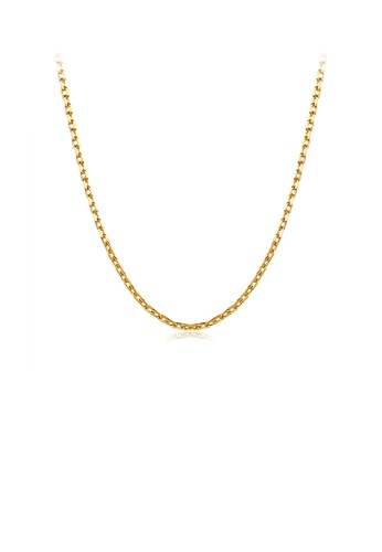 Glamorousky silver Simple Plated Gold Necklace BD9D1ACF7AE755GS_1