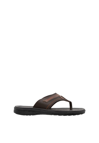 SEMBONIA brown SEMBONIA Men Synthetic Leather Slipper (Dark Brown) SE598SH0SZ8VMY_1