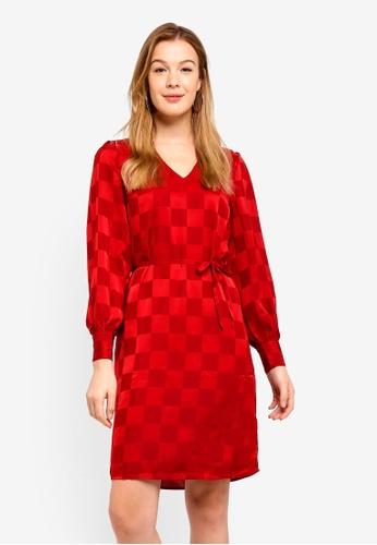 ICHI red Veroni Dress AA7CAAA1828D12GS_1