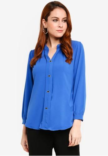 Aqeela Muslimah Wear blue Kebaya Top A94E1AAFC42ACFGS_1