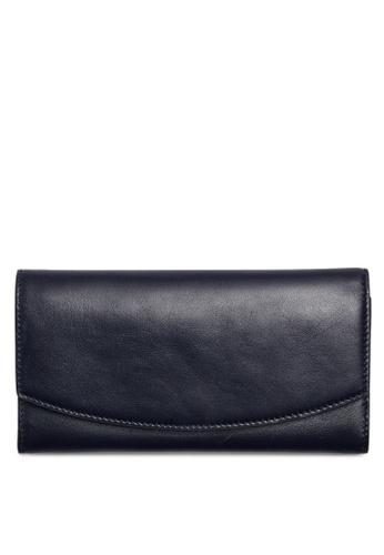 Skagen navy Skagen Continental Leather Flap Wallet SWS0215496 SK533AC37CGKMY_1