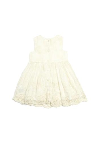 Mamas and Papas white Lace Dress - Cream DEC6EKA5557D8BGS_1