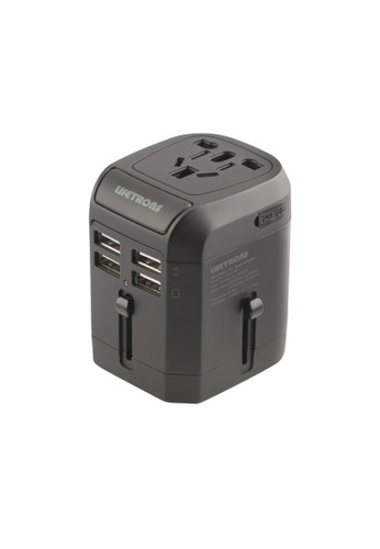 Lifetrons black Ultra Power Pro Travel Adaptor 4-USB Charge & Type C Cable 790FCAC60C5103GS_1