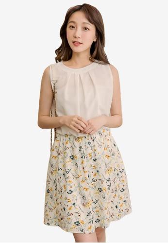 Eyescream white Faux 2-Piece Floral Dress 721C6AA937F8F6GS_1