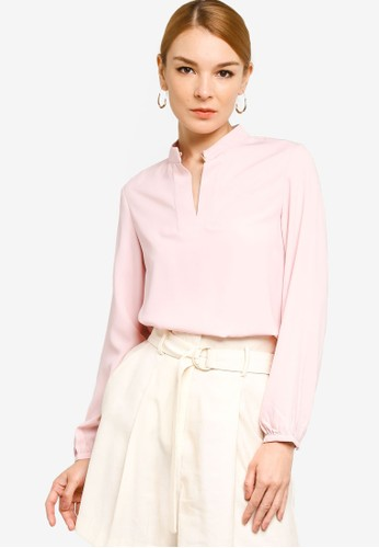 Origin by Zalora pink 100% Recycled Polyester Keyhole Top CE1E5AAB4A2FF7GS_1