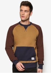 Wrung multi and beige Abel Crewn Neck Sweater WR395AA46QYVMY_1